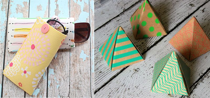 Pyramid treat boxes,plastic canvas sunglass cases