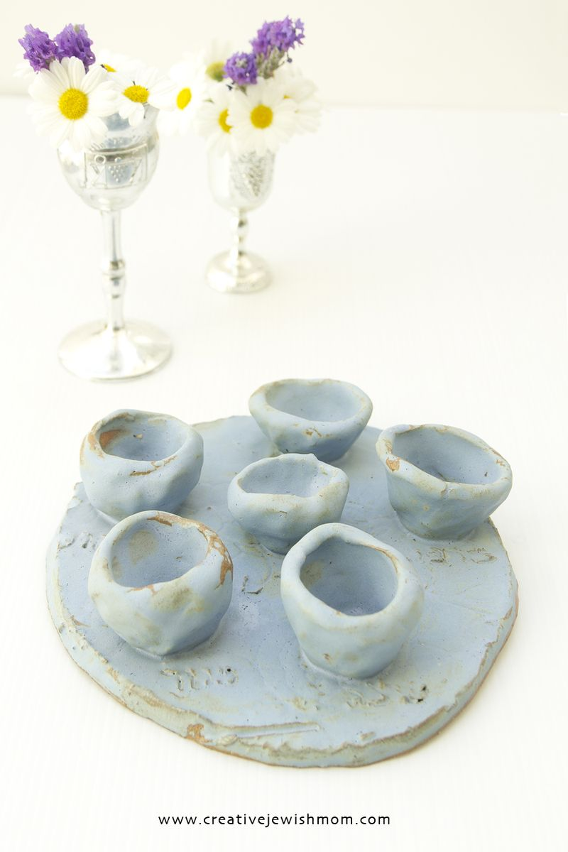 Passover craft clay seder plate