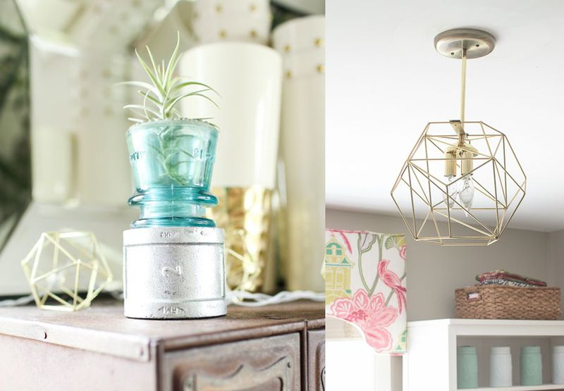Air plant stand,DIY geo light