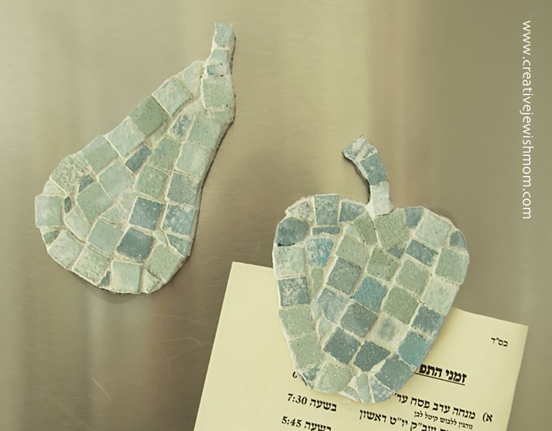 Mosaic Mini Craft For Kids Fridge Magnets