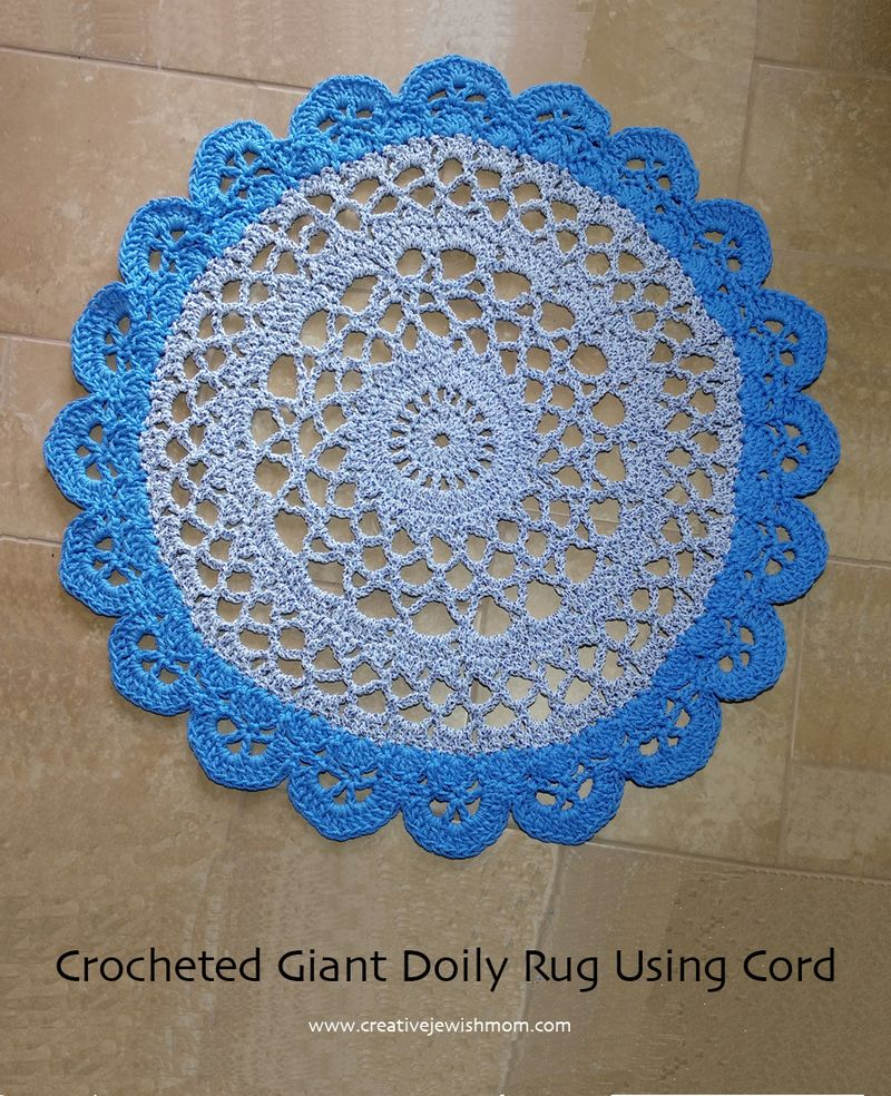 Crocheted Doily Rug Using Cord