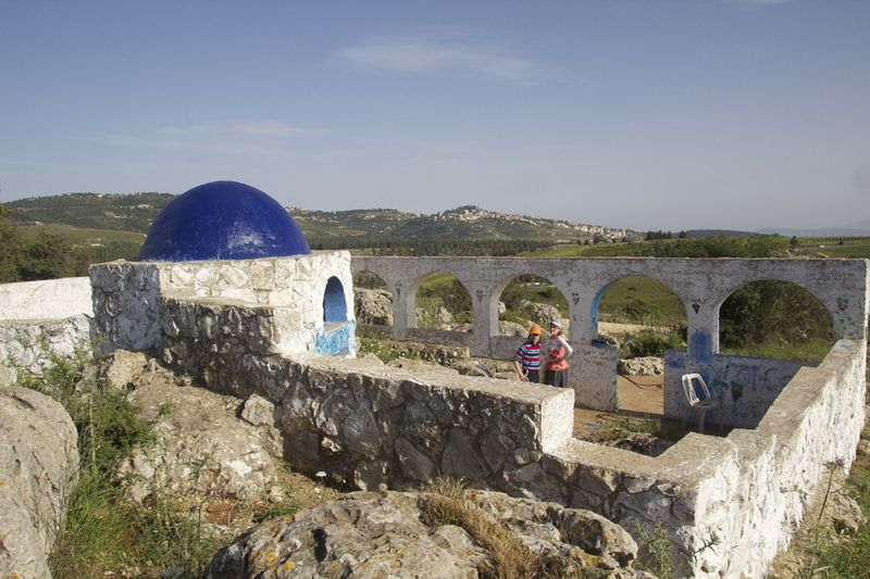 Elkana's Gravesite With View Of Tsfat
