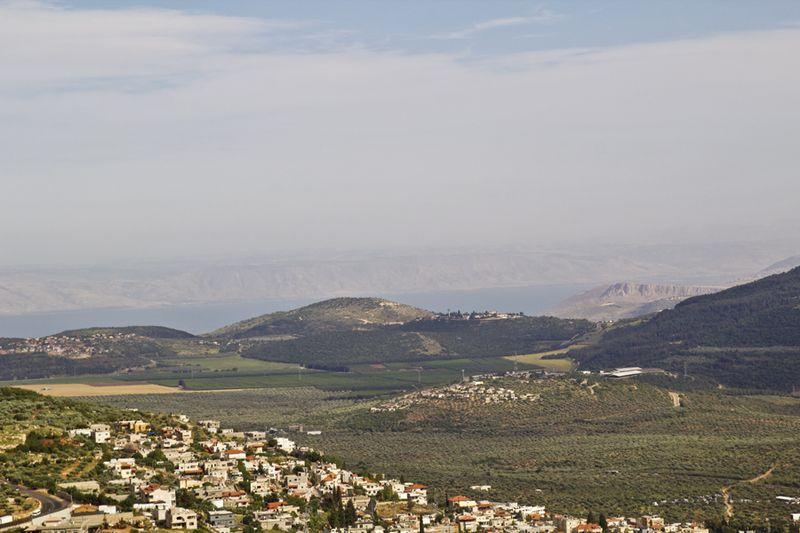 Cave of Rebbi Shimon view of Sea of Galilea