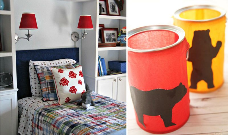 Painted lamp shades,bear lantern craft