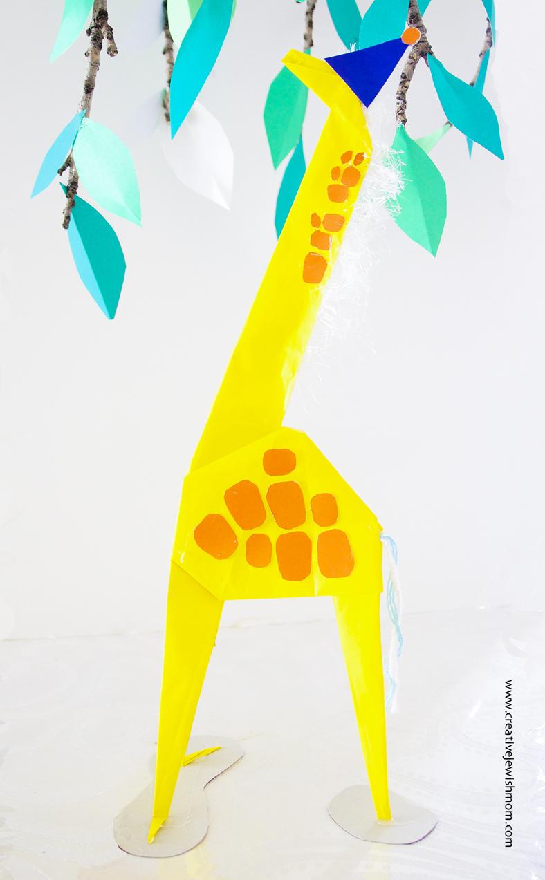 Giant Origami Giraffe DIY