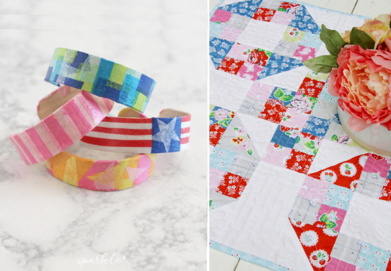 Mini quilt,popsicle stick bracelets