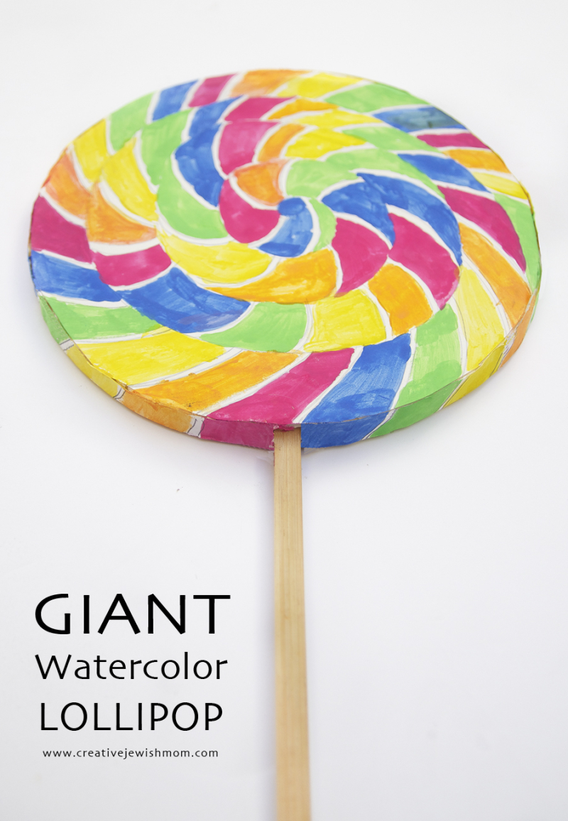 Watercolor Giant Lollipop
