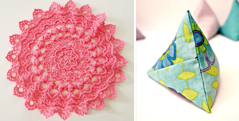 Intricate crocheted doily, DIY pattern weights