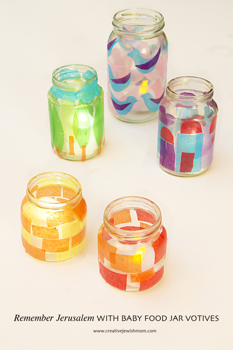 Baby Food Jar Craft Votives
