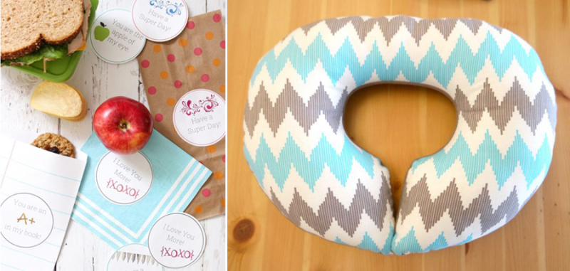 DIY kid's neck pillow,lunch message printables
