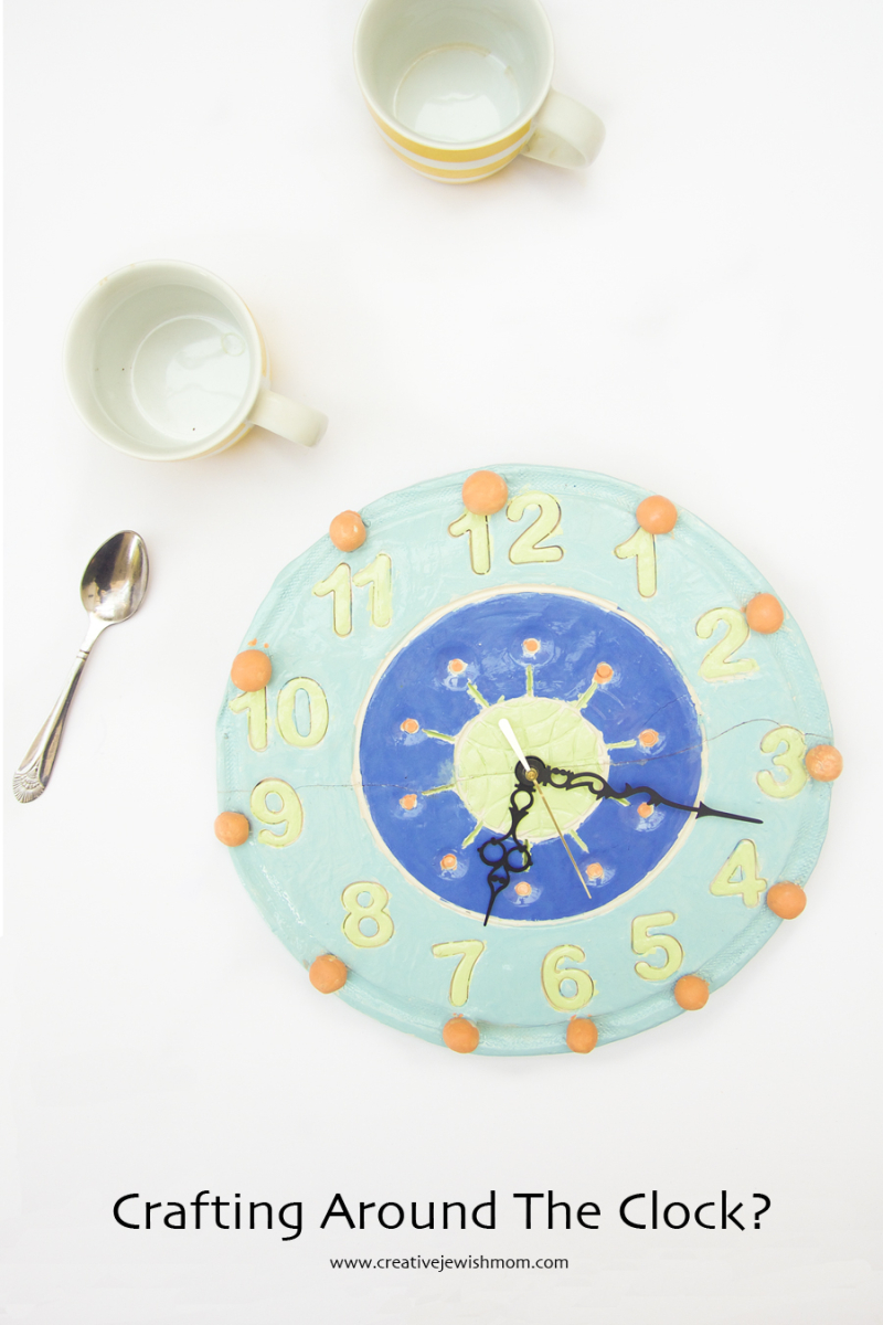 Ceramic Mid Century Clock Craft For Kids
