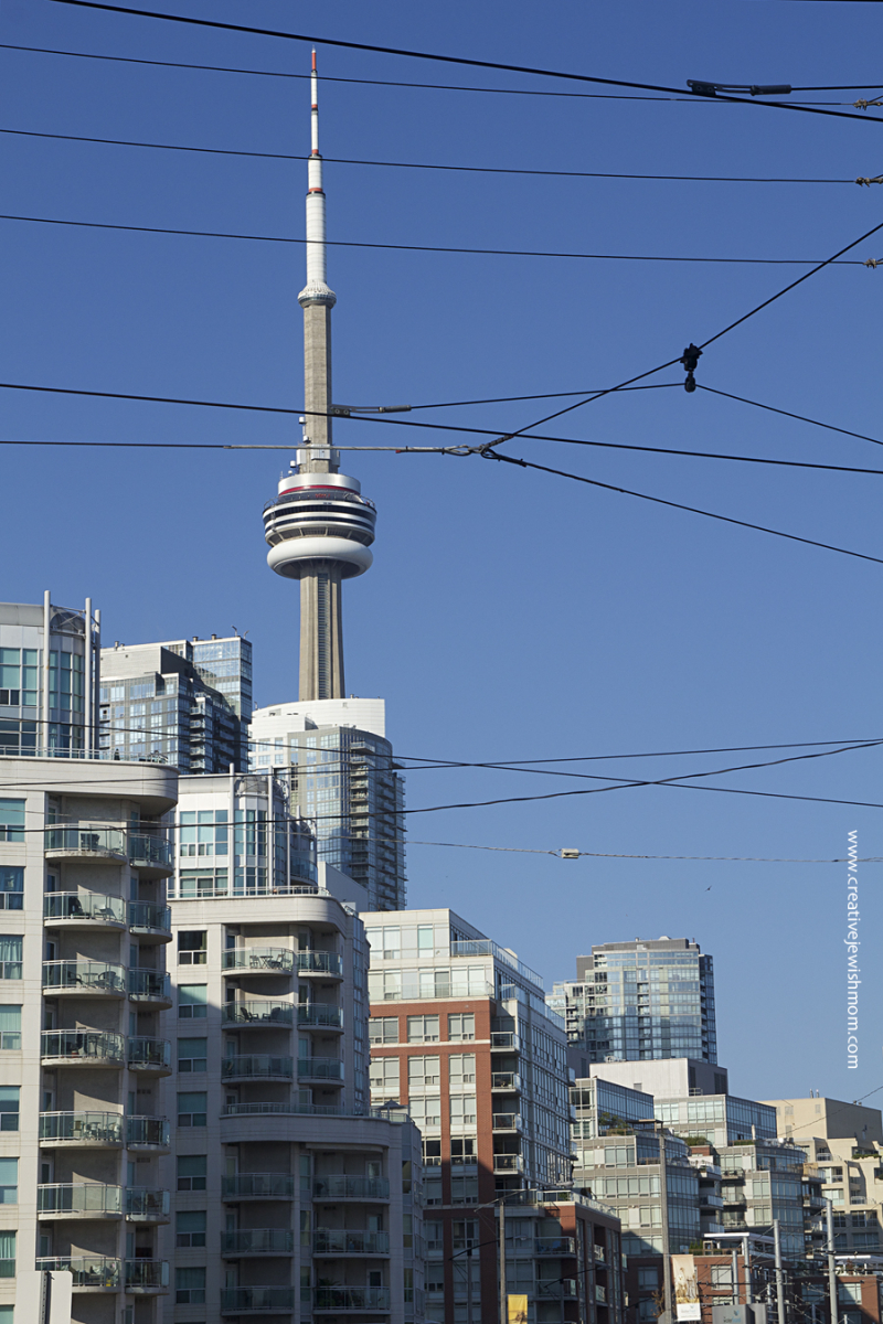 Toronto CN Tower With Harbour Apartments