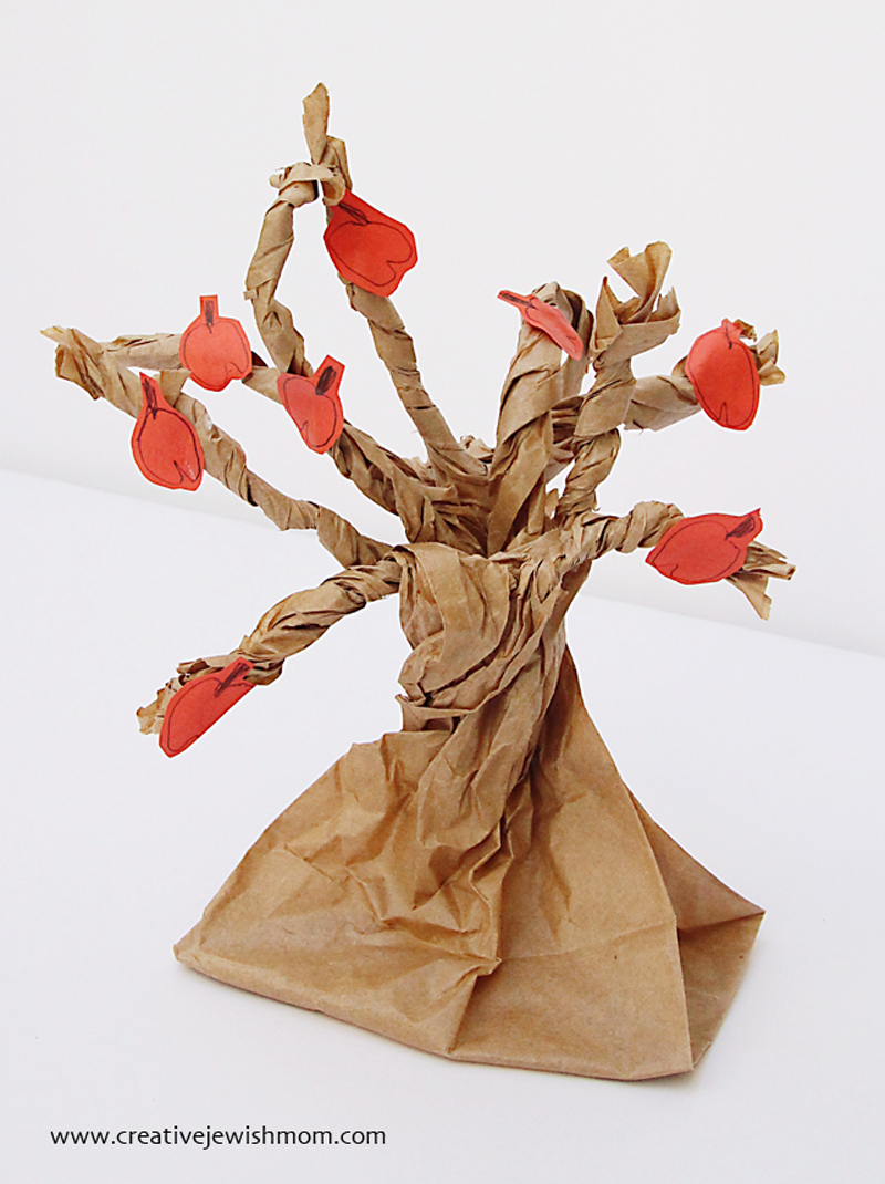 Paper Bag apple tree craft