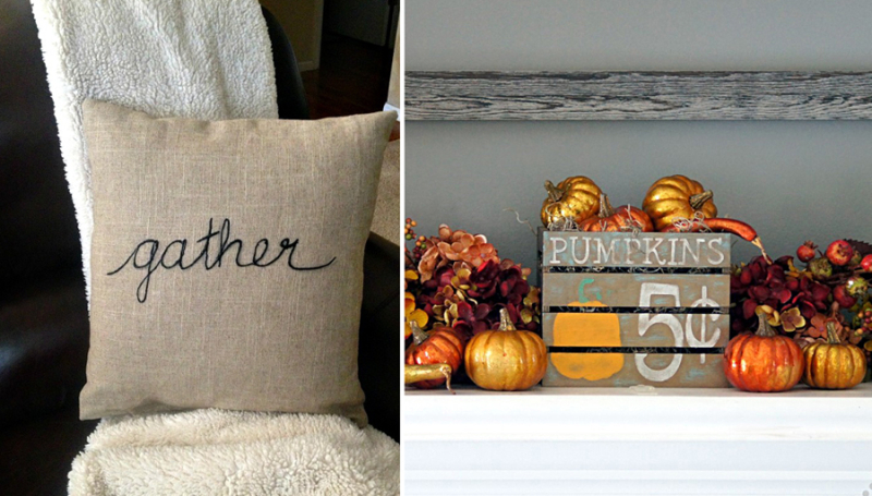 Pumpkin crate fall sign,embroidered thanksgiving pillow