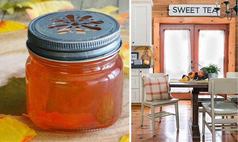 DIY scented house gel,make your own vintage sign