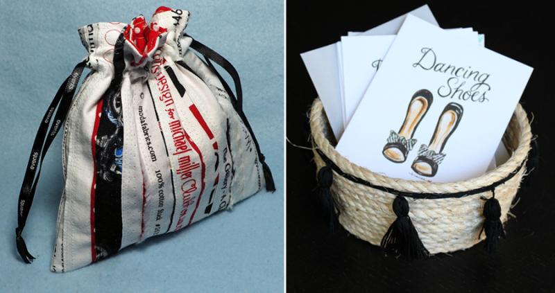 Diy sisal basket,selvedge fabric drawstring bag tutorial