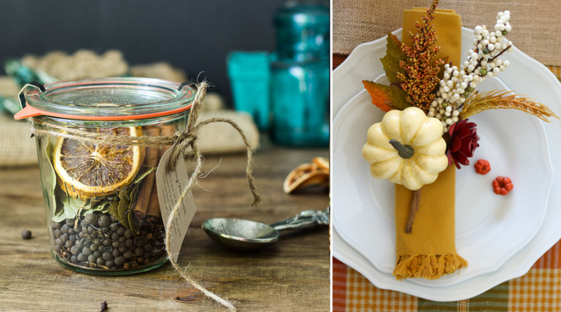Fall napkin ring, stove top pot pourri