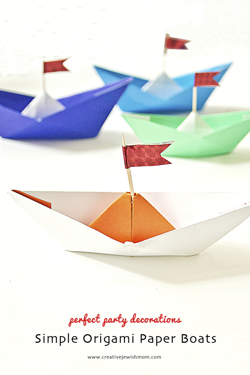 Paper boats origami kids craft