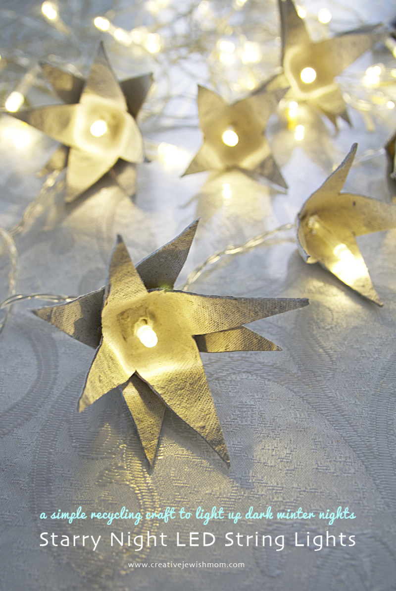 String Light Egg Carton Stars