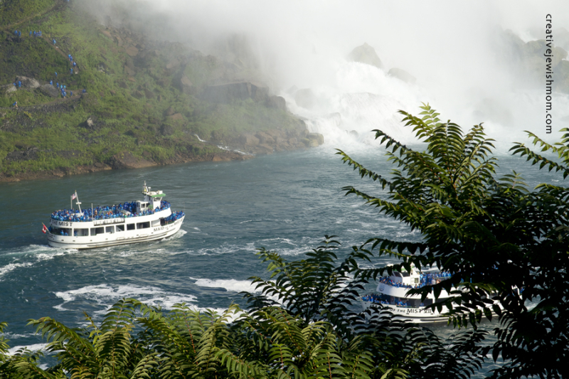 Niagara Falls With Boat From American Side
