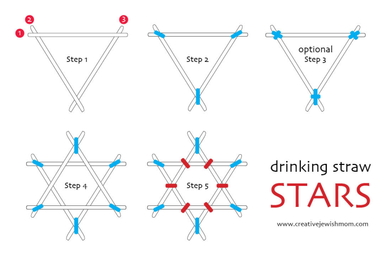 Drinking Straw Star How To