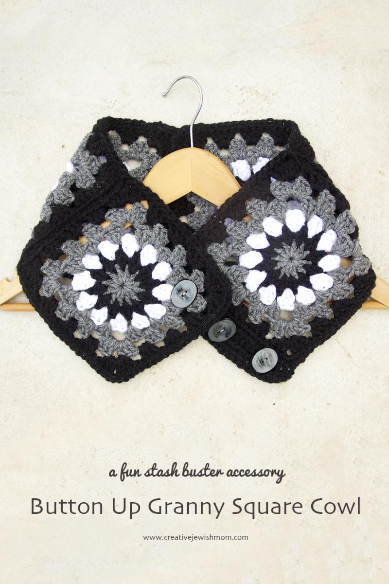 Crocheted Granny Square Button up Cowl
