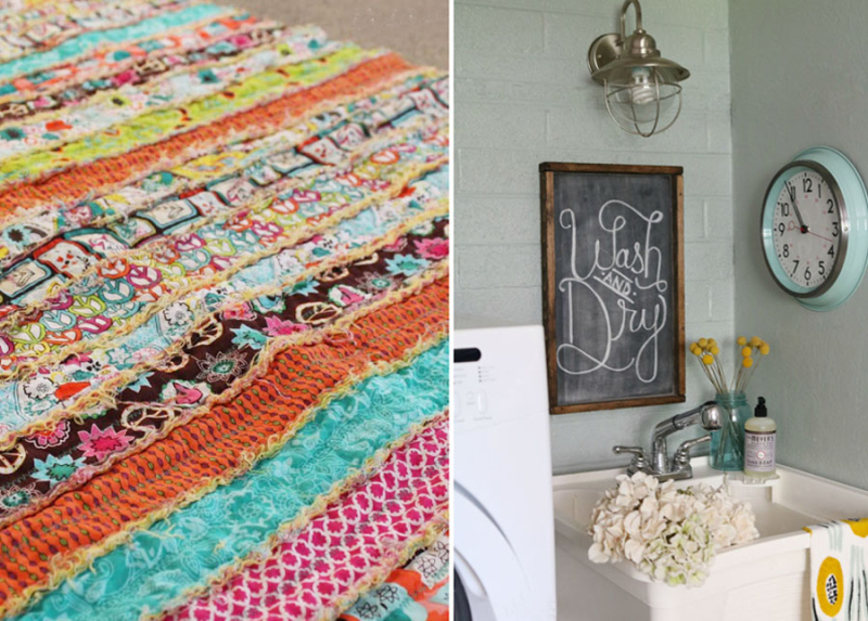 Rag strip quilt,laundry room budget