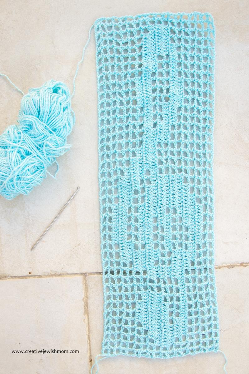 Filet Crochet Music Symbol