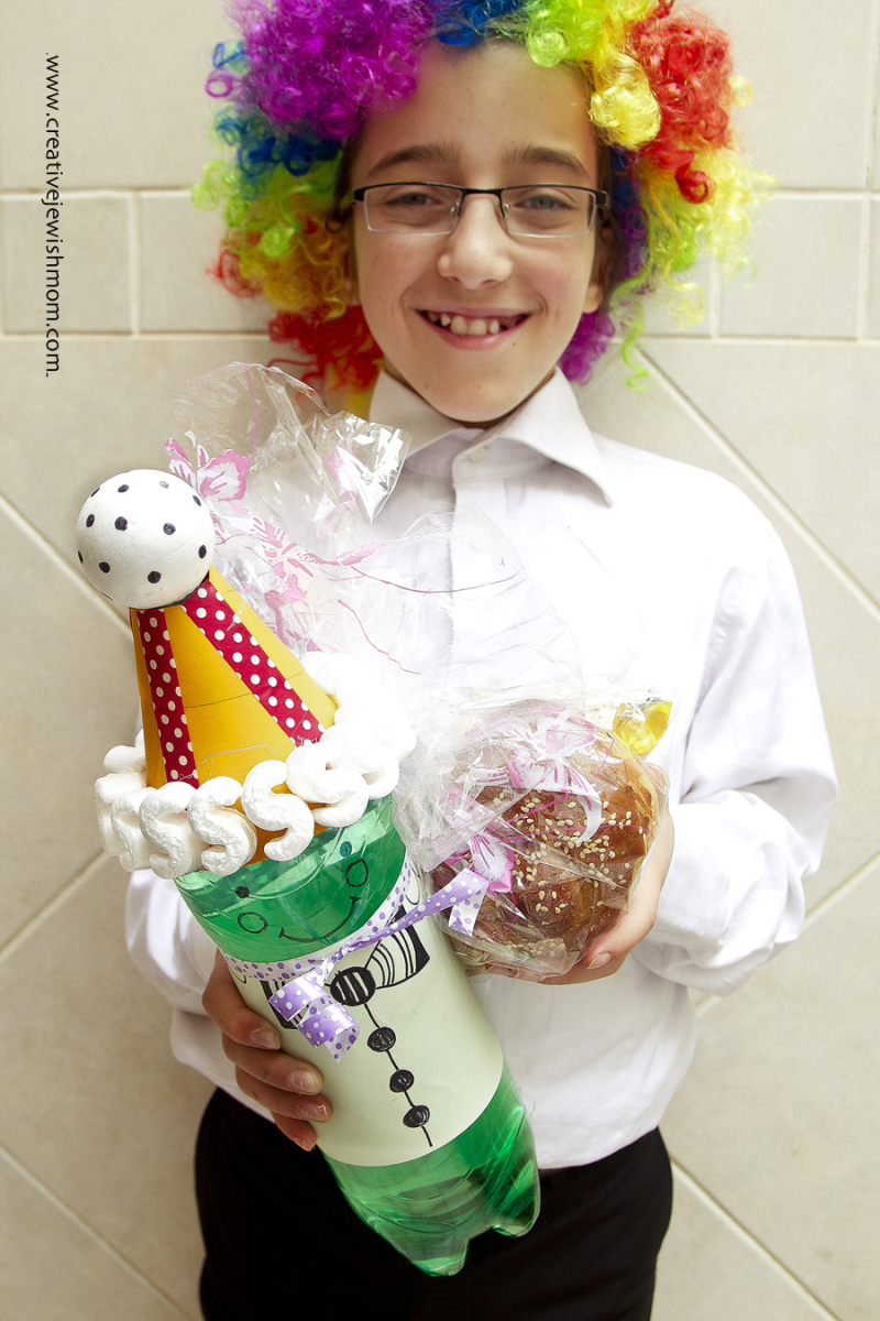 Soda Bottle Clown For Purim Craft