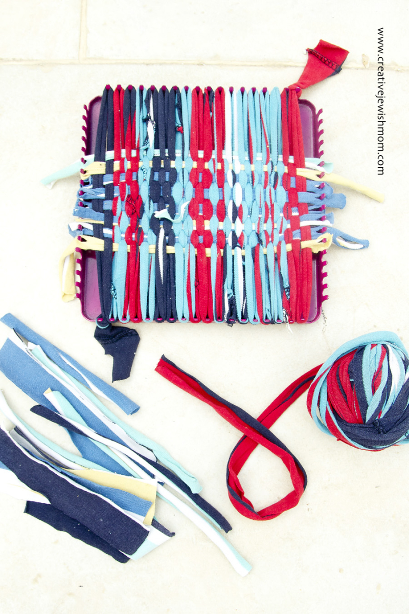 T-shirt yarn pot holder how to