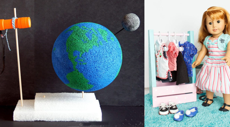 Moon phases project for kids american doll clothes closet