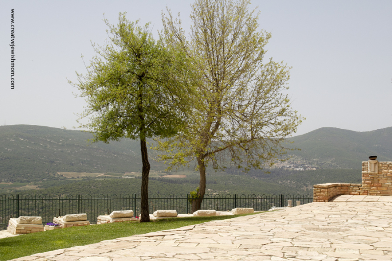 Military cemetary in Safed Israel with view
