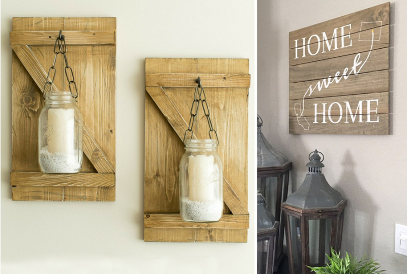 Mason jar lantern DIY home sweet home sign