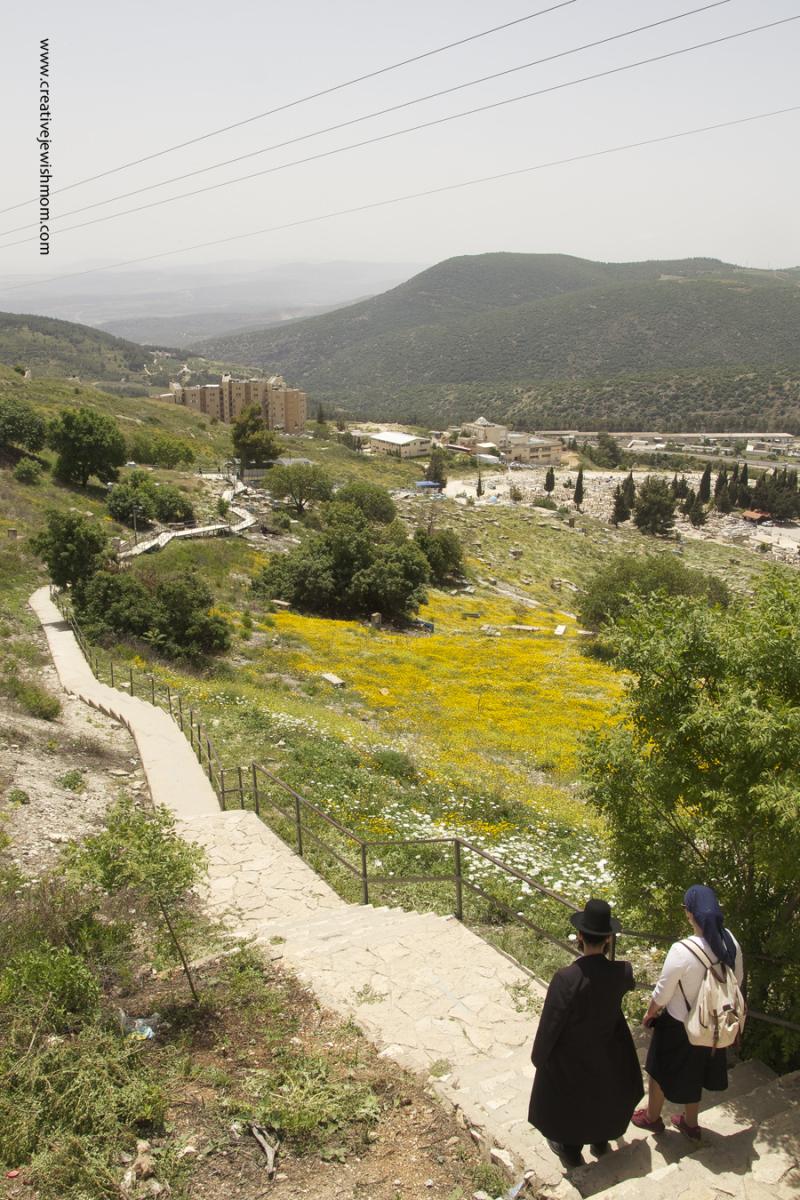 Old Cemetary Tzfat Path To Arizal Gravesite