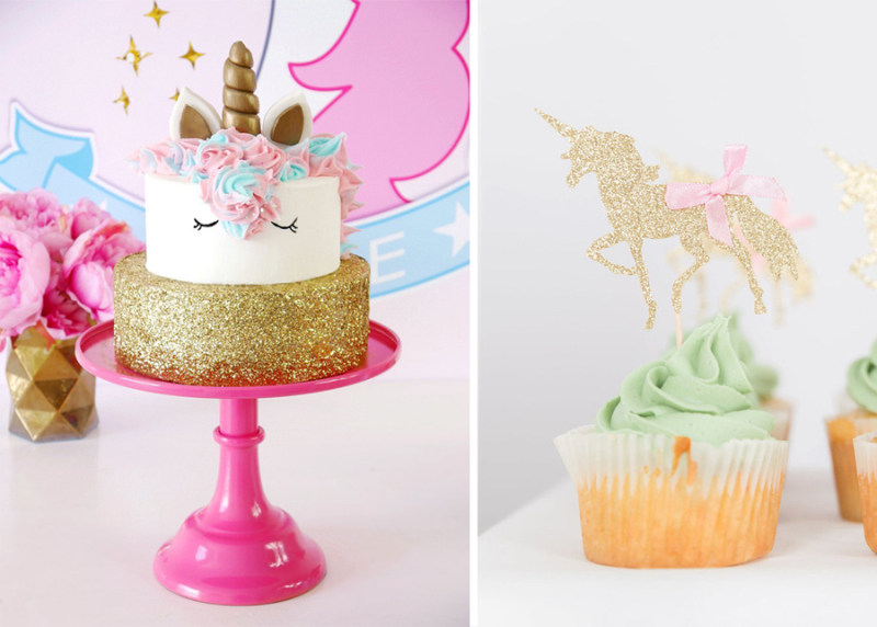 Unicorn party cake unicorn first birthday cupcake