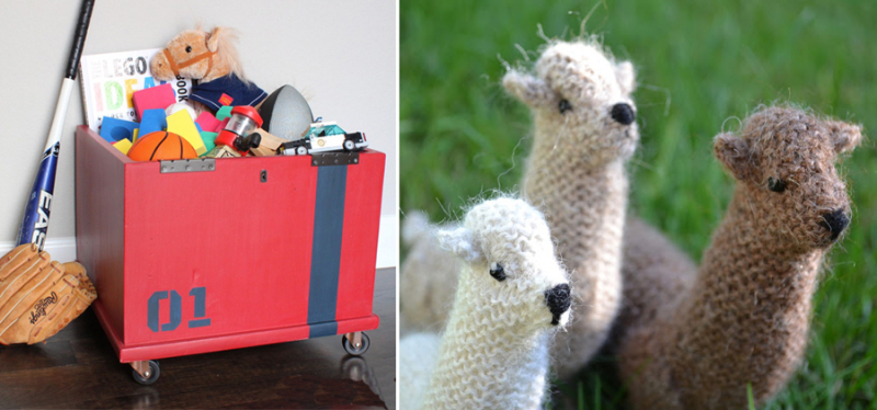 Storage box to industrial toy box knit alpaca toys