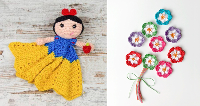Crocheted cinderella comfort blanket crocheted flowers