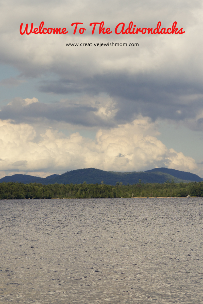 Adirondacks Lake with mountains
