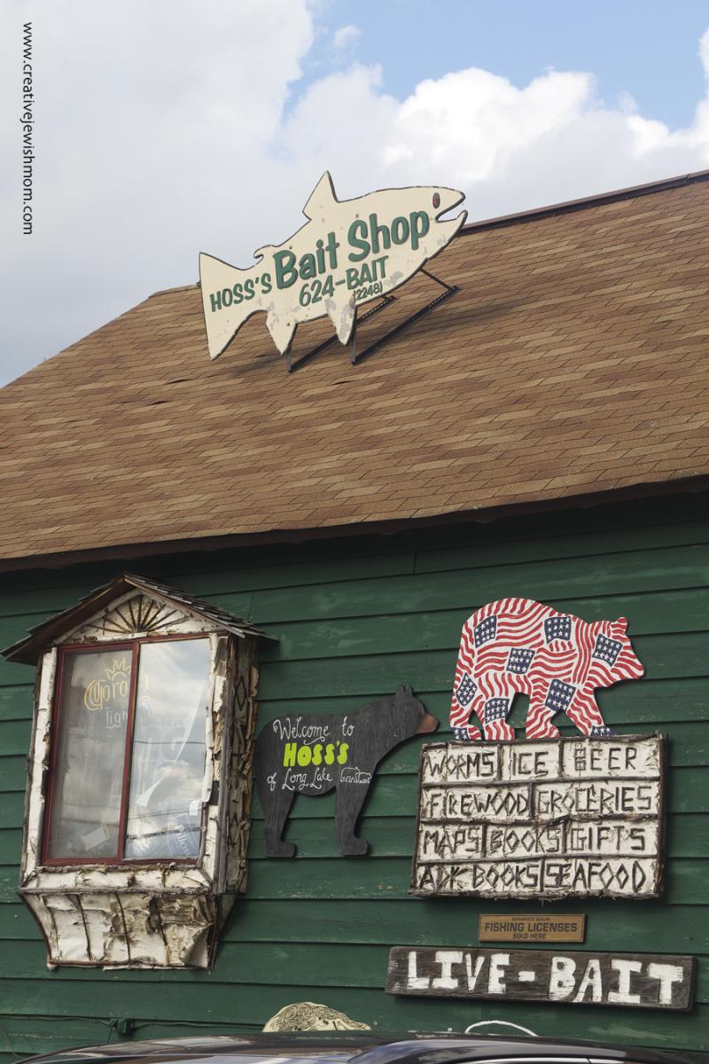 Adirondacks Long Lake Store signs
