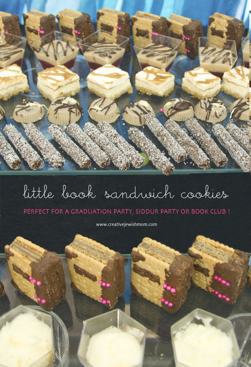 Book Party Siddur Party Sandwich Cookies