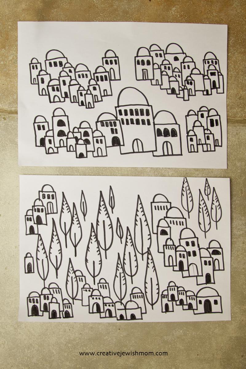 Remember Jerusalem Doodle Craft