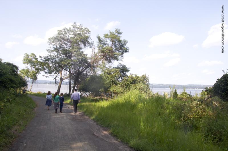 Hudson River Hike To shoreline Hook Rock