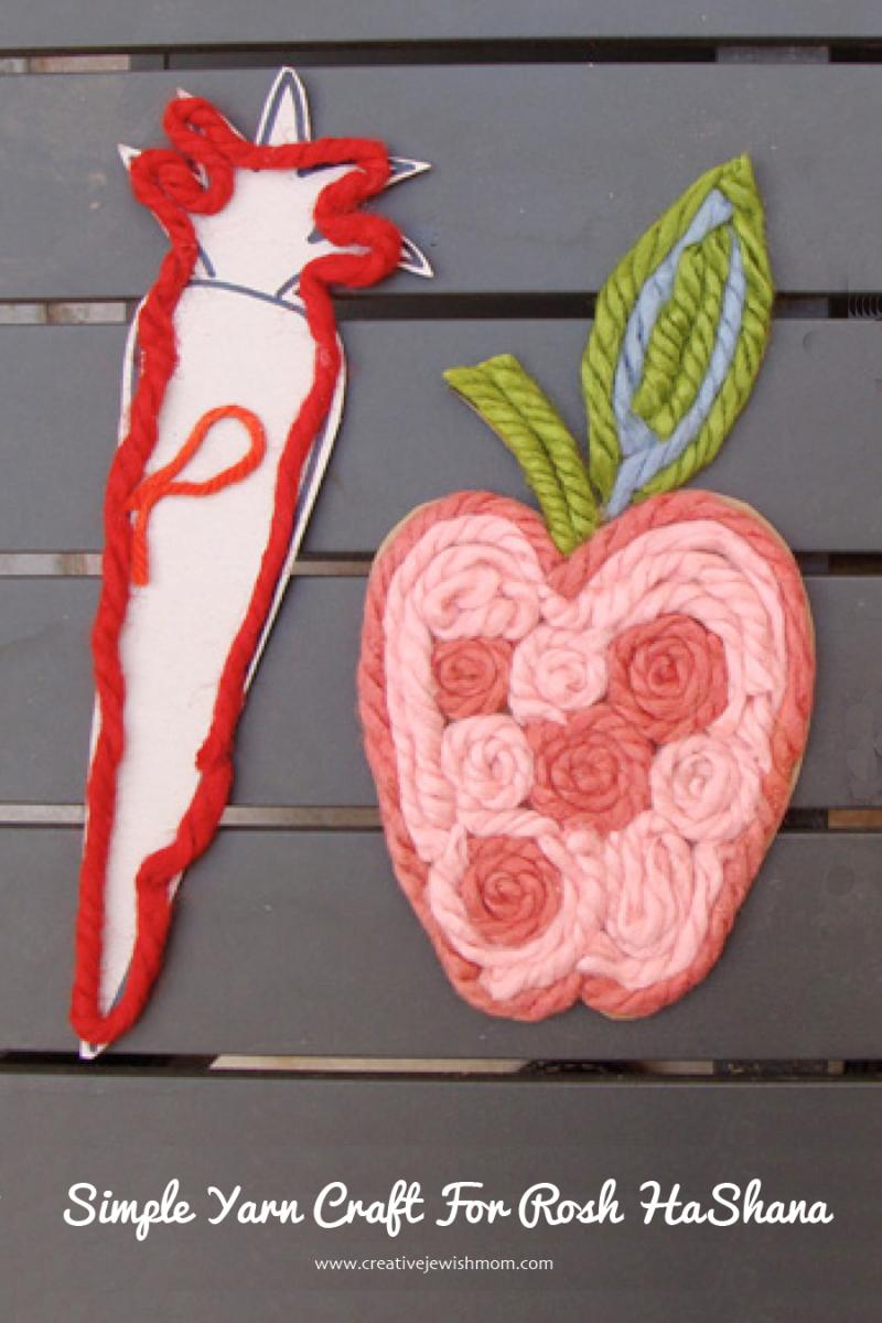 Rosh HaShana Yarn Craft For Kids