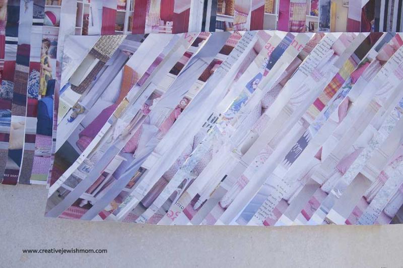 Magazine page striped paper diagonal