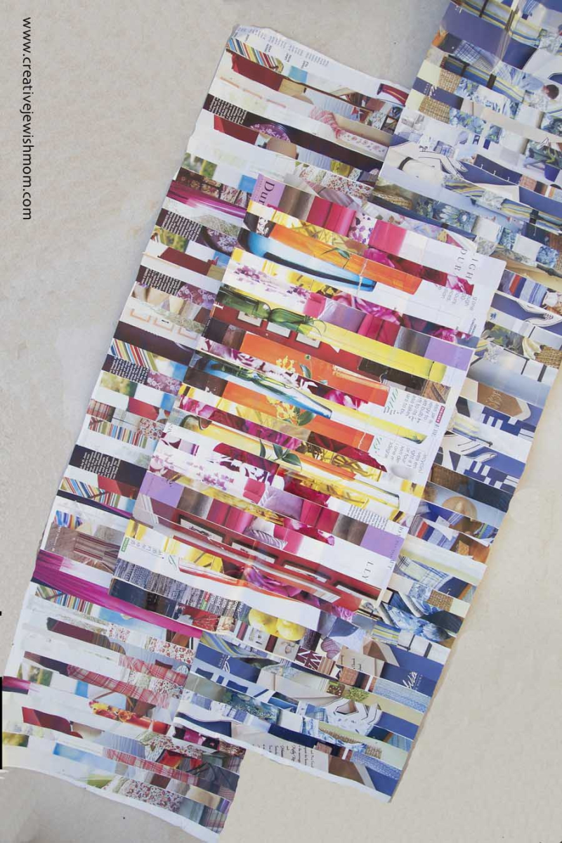 Magazine Page Collage crafting paper
