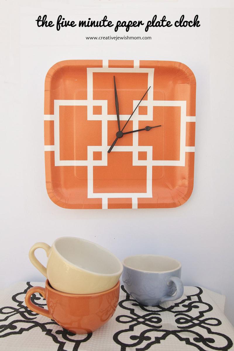 DIY Five Minute Paper Plate Clock
