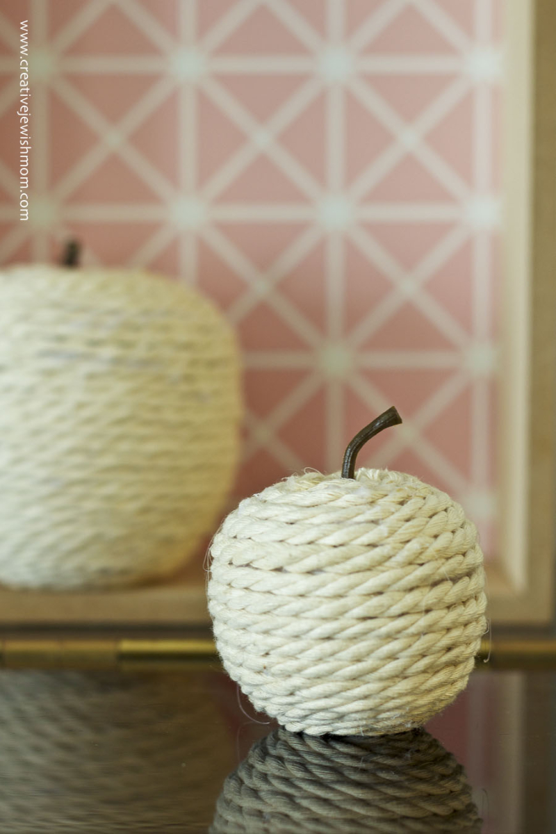 Rope Wrapped Apples DIY Craft
