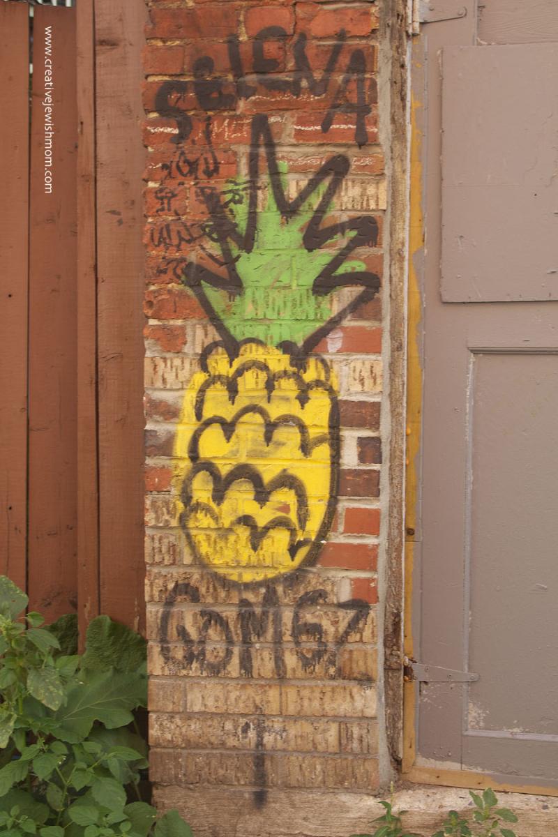 Montreal Pineapple Graffiti