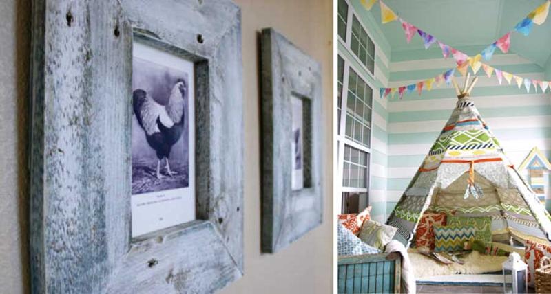 Palette wood frames  DIY teepee