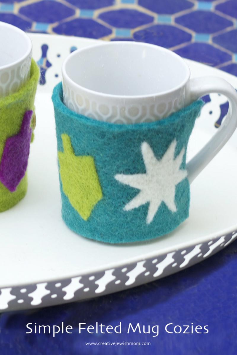 Diy Felt Mug Cozy For Hanukkah Makes A Great Gift Creative Jewish Mom